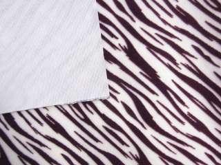 Purple Tiger Zebra Velvet Sofa/Cushion Cover Fabric Material