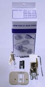 Janome Sewing Machine Jem Gold Silver Quilt Kit New