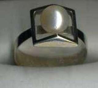 Ring Weißgold 585 mit Perle in Dithmarschen   Buesum  Accessoires