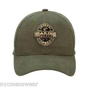 OLIVE DRAB US MARINE CORPS HAT   LOW PROFILE CAP