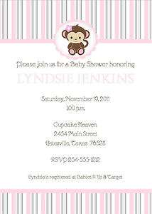 24 Cocalo Jacana Soft Pink 5 x 7 Baby Shower Invitations