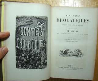 1861.Balzac Droll Stories French Book 425 Illustrations Gustave Dore