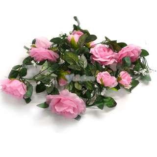 Pink ROSE GARLAND Silk WEDDING Flower Arch Decororation