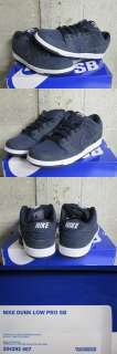 Nike SB Dunk Low Pro US Passport Dark Obsidian Blue White Sz 9.5 new