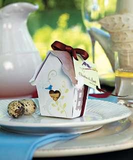144)Love Bird House Favor Boxes Bridal Wedding Garden |