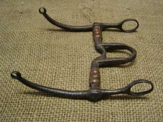 Vintage Iron & Copper Horse Harness Bit Antique Rare Design Wagon