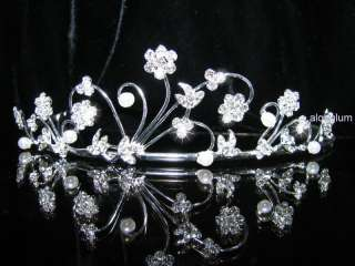 A29 Wedding Bridal Bridesmaid Prom Flower Swarovski Crystal Rhinestone