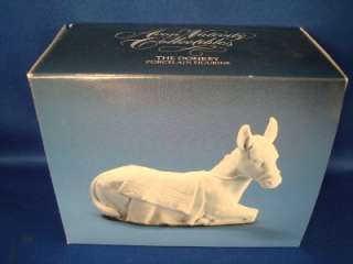 Avon 1985 Porcelain Naiviy Figurine Donkey New Burro |