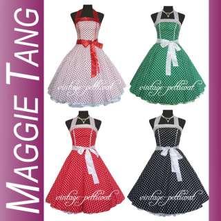 50er 60er Jahre Tanz Kleid zum Petticoat Rockabilly 505