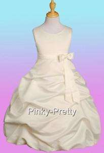 Up Dresses Size 7 8 Wedding Flower Girls Pageant Party Occasion 034