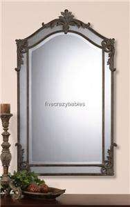 Baroque Extra Large Arch Top Wall Mirror Neiman Marcus Antique Luxe