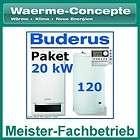 Buderus Logamax plus GB172 20 kW Gas Brennwert Heizung Logaplus Paket