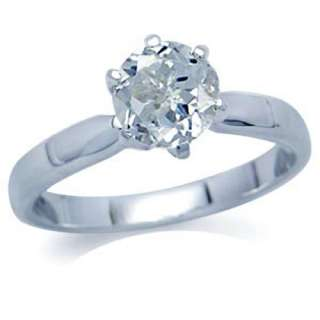Natural White Topaz 925 Sterling Silver Solitaire Ring Size/Sz 6 s26