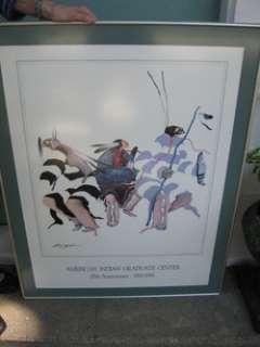 Southwest Print Indian Sam English Chippewa Graduates New Mexico