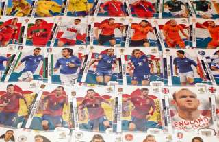 CHOOSE YOUR PANINI UEFA EURO 2012 STAR PLAYERS A J CARDS FREE UK