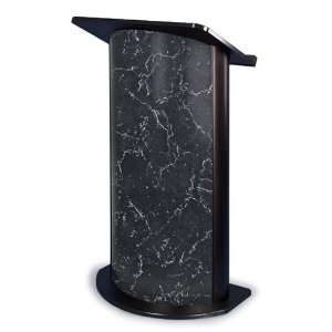 Pyrenees Marble Curved Radius Lectern with Black Anodized