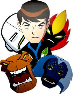 Licensed Ben 10 Alien Force Card Masks 6 Assorted Pack Fancy Dress