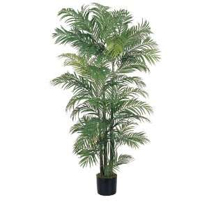 Real Looking 6 Areca Silk Palm Tree Green Colors   Silk Tree: