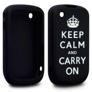 KEEP CALM & CARRY ON RUBBER CASE FOR BLACKBERRY 9300