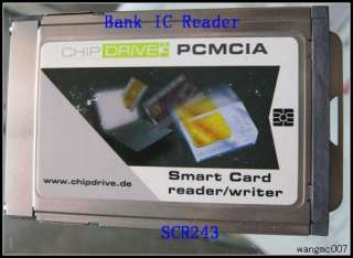 CHIPDRIVE® PCMCIA Pro SCR243 Smart Card For Bank IC
