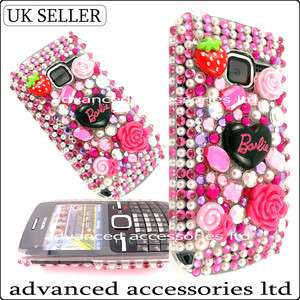 C3 PINK FLORAL 3D CRYSTAL RHYNSTONE BLING DIAMOND CASE DIAMANTE COVER