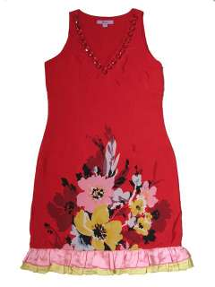 NEW RED FLORAL SUMMER DRESS SIZE 10 12 14 16 18 MONSOON