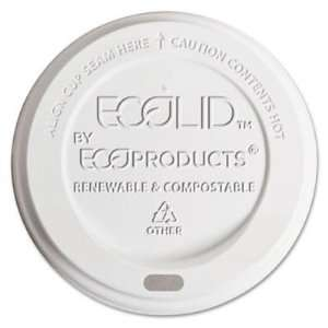 Eco Products Plastic Hot Cup Lids, Fits 8 oz. World Art