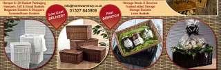 Vintage Style Storage Boxes Wicker Hamper Trunk Chest 70cm Honey