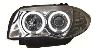 FEUX AVANTS ANGEL EYES CCFL BMW SERIE 1 E81 E87 2004 2009 LED