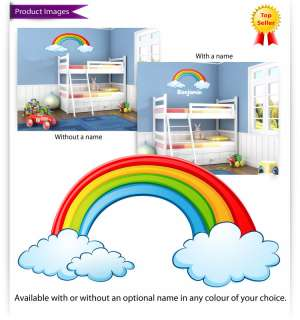 Childrens / Kids Bedroom Rainbow Wall Stickers (Girls Decal Baby