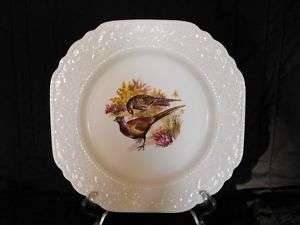 Vintage Lord Nelson Pottery 9.5Square Plate   Pheasant