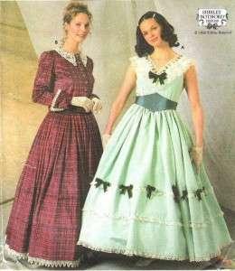 OOP Simplicity Misses Civil War Costume Sewing Pattern