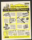 1961 Print Ad Stanley Power Hand Tools Hammer Drill Kid