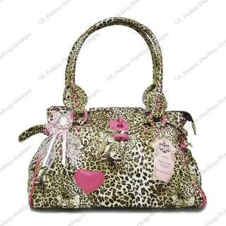 LYDC ANNA SMITH LEOPARD TIGER ANIMAL PRINT BAG + CHARM