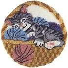 Latch Hook Rug TIGER big cat color chart pattern