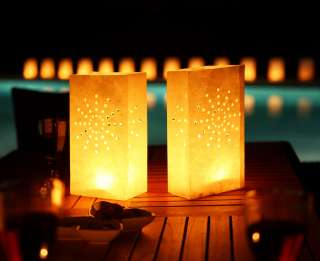 Tea Light/ Paper Candle Lantern Bags Luminaries Party