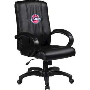 Home Office Chair with NBA Logo Panel Team: Detroit