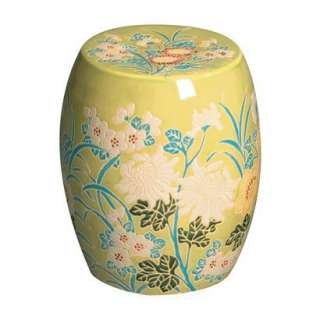 Fern Green Garden Stool with Flower Design.Opens in a new window