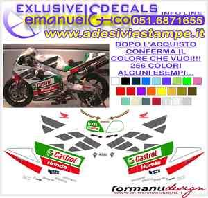 KIT ADESIVI DECAL HONDA VTR SP2 CASTROL