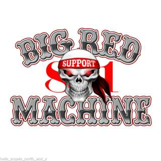 HELLS ANGELS SUPPORT BIG RED MACHINE MUSKELSHIRT BRM 81