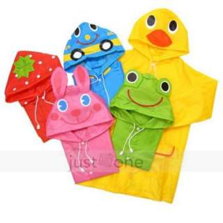 Kid Children Boy Girl Cute Funny Cartoon Hoodie Rain Outwear Cover