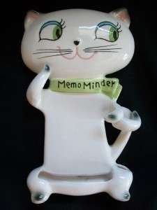 HOWARD COZY KITTEN CAT MEMO MINDER WALL PLAQUE NOTE PAD HOLDER