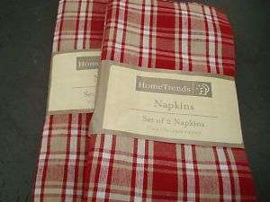 HOME TRENDS NAPKINS SET OF 4 NEW