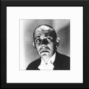 Erich Von Stroheim Custom Framed And Matted B&W Photo