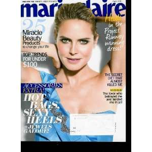 Marie Claire April 2010 Volume 17 Issue 4 (Cover) Heidi Klum