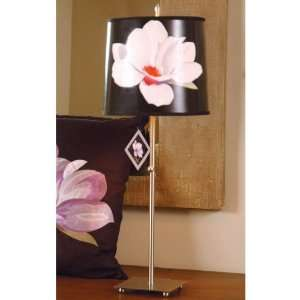 Jane Seymour Mgnl Buffet Lamp Hardback Drum Satin Finish