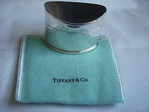 RARE Tiffany & Co. Sterling Silver Stamp Trinket Ring Box With Pouch