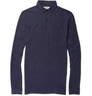 Burberry London Long Sleeved Stretch Cotton Polo Shirt  MR PORTER