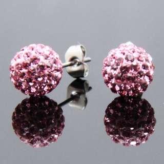 8mm Swarovski Crystal Round Stud Earrings