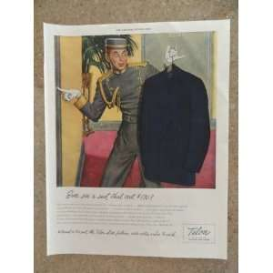 ) Original vintage 1946 The Saturday Evening Post Magazine Print Art
